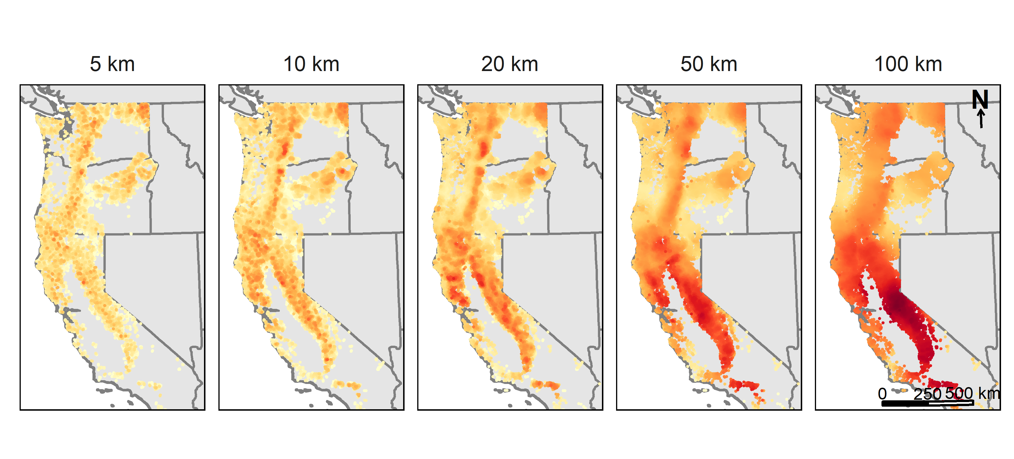 Tree gamma diversity in Pacific states - figure by QDR